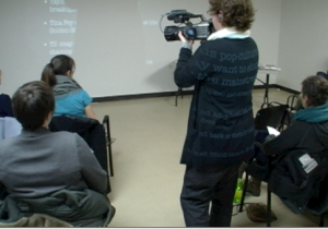 Diane filming at WAM